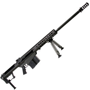 "Barrett M107A1 Semi Auto Rifle .50 BMG 29"" Fluted Barrel 10 Rounds Suppressor Ready Muzzle Brake 18"" Integrated Rail with 27 MOA Elevation Black Cerakote Receiver"