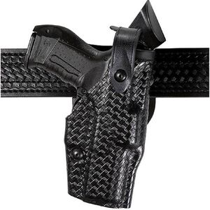 Safariland 6285 Low Ride SLS Hooded Duty Holster GLOCK 17, 22 with ITI M6 Light Right Hand Basket Weave Finish 6285-8321-81