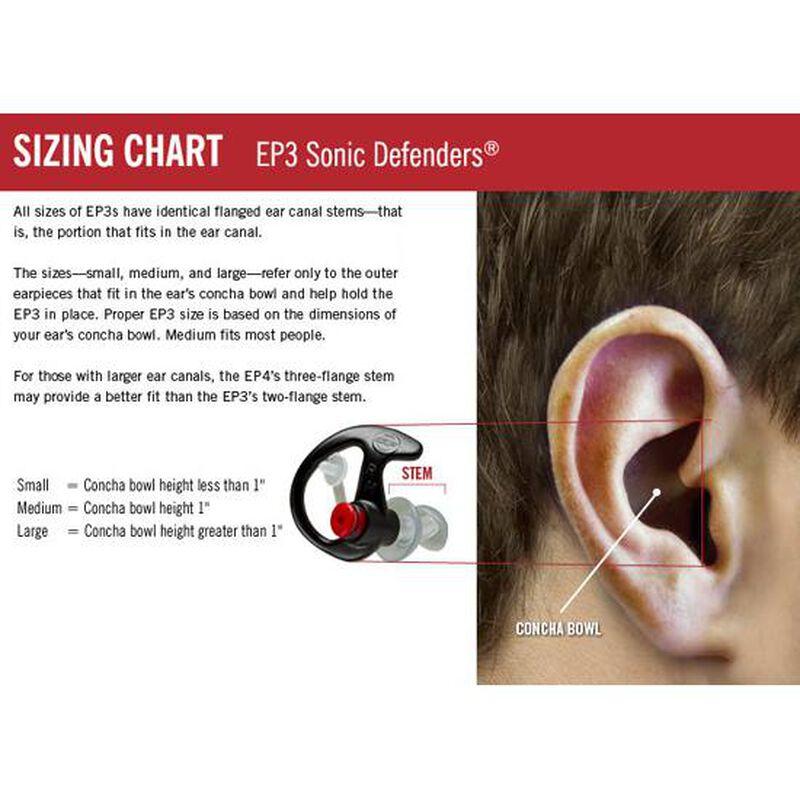SureFire EP3 Sonic Defender Ear Plug, Medium, Black