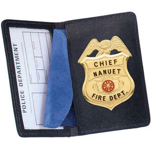 Strong Leather Company Side Open Badge Case Duty Cutout Black 85500-0642