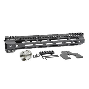 "Midwest Industries AR-15 Ultra Lightweight 12.625"" One Piece Free Float M-LOK Hand Guard 6061 Aluminum Hard Coat Anodized Matte Black"