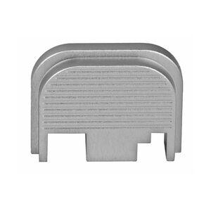 Bastion Gear Custom Slide Plate with Ridges for GLOCK Models 17-41 Gen 1-4 Silver