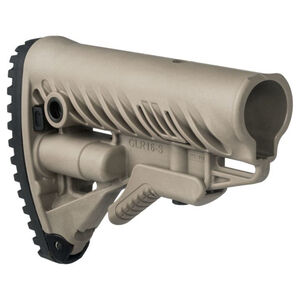 FAB Defense GLR-16 AR-15 Buttstock with Storage Compartment FDE