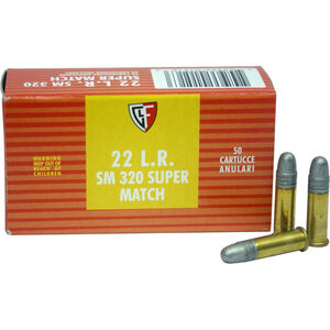 FIOCCHI .22LR Ammunition 5000 Rounds, Super Match LRN, 40 Grains