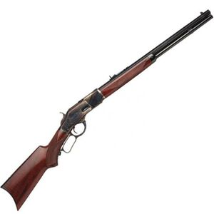 "Taylor's & Co. 1873 Taylor's Trapper Lever Action Rifle .357 Magnum 18"" Octagonal Barrel 10 Rounds Buckhorn Rear Sight/Blade Front Walnut Pistol Grip Stock Case Hardened Frame Blue Finish"
