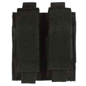 Voodoo Tactical Double Pistol Magazine Pouch MOLLE Compatible Nylon Matte Black MS-20-7975-Black