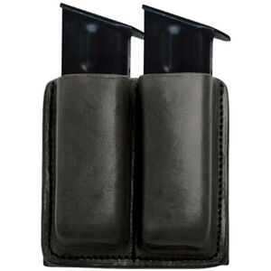 Tagua Gunleather Double Pistol Magazine Carrier GLOCK 9mm/.40 Double Stack Magazines Ambidextrous Leather Black MC6-022