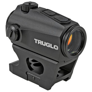 TRUGLO Ignite Mini Compact 22mm Red-Dot Sight 2 MOA Dot AAA Battery Low and High Mounts Black Finish