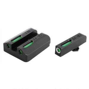 TRUGLO Tritium Pro Sight Set Taurus Millennium G2/709 Slim/740 Slim Green 3-Dot Steel Black TG231T2W