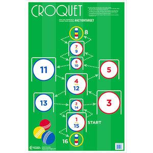 """Action Target CroquetPaper Target 23""""x35"""" 100 Count"""