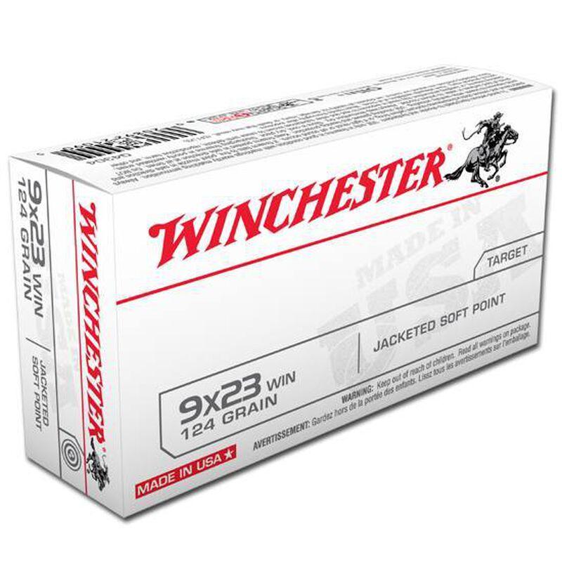 Winchester USA 9x23mm Ammunition 50 Rounds, JSP, 124 Grain