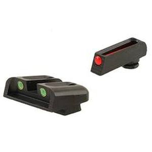 TruGlo Brite-Site Fiber Optic Sight Set for Kimber 1911 Models with Fixed Rear Sight 3 Dot Sights CNC Machined Steel Housing Matte Black Finish