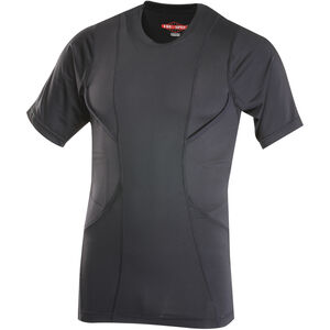 Tru-Spec 24-7 Series Concealed Holster Shirt Short Sleeve Men's Size 3X-Large Polyester/Spandex Black 1226008