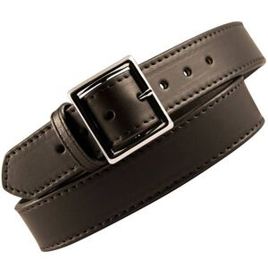 "Boston Leather 6505 Garrison Leather Belt with Lining 36"" Nickel Buckle Plain Leather 6505L-1-36"