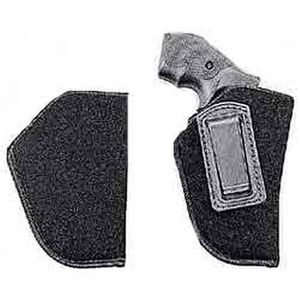 """Uncle Mike's IWB Holster Size 0 2-3"""" Small/Medium Double Action Revolvers Left Hand Nylon Black 89002"""