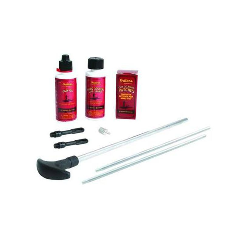 Outers Cleaning Kit, Shotgun, 20 and 28 Gauge, Aluminum, Clam Pack