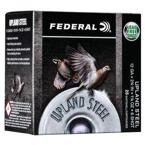 "Federal Upland Steel 12 Gauge Ammunition 25 Rounds 2-3/4"" #6 1-1/8 Ounce Steel Shot 1400 fps"