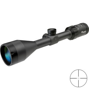 SIG Sauer WHISKEY3 3-9x50mm Rifle Scope Quadplex Reticle 1 Inch Tube .25 MOA Adjustment Matte Black Finish