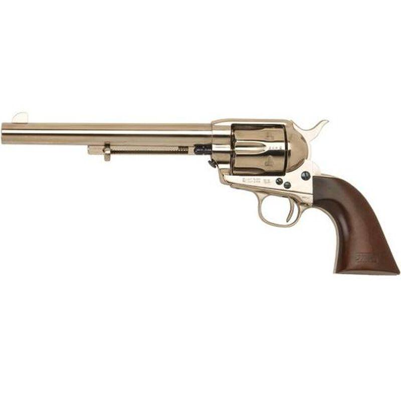 "Cimarron General Custer Single Action Revolver .45 Long Colt SA 7.5"" Barrel 6 Rounds Walnut Grip Nickel Finish CA514N00M00"