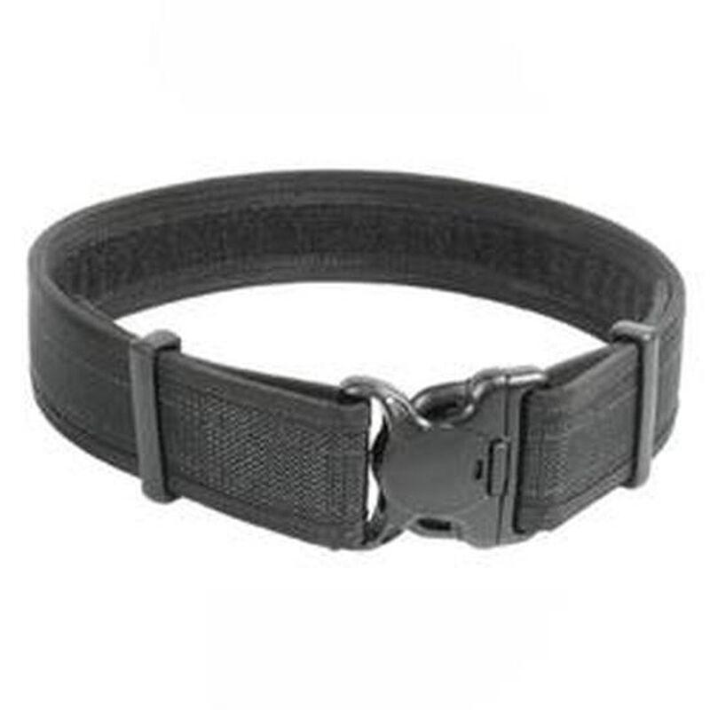 "BLACKHAWK! Reinforced 2"" Duty Belt With Loop Inner Surface Size Medium 32"" to 36"" Waist Web Nylon Finish Matte Black"