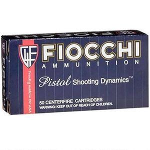 Fiocchi Pistol Shooting Dynamics 9mm Makarov Ammunition 50 Rounds 95 Grain FMJ Projectile 1020 fps