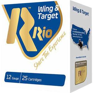 "RIO Ammunition Wing & Target 12 Gauge Ammunition 250 Rounds 2-3/4"" Shell #7.5 Lead Shot 1oz 1250fps"