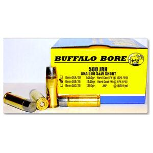 Buffalo Bore .500 JRH Ammunition 20 Rounds Hard Cast FN 440 Grain Low Recoil 44B/20