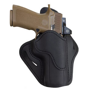 1791 Gunleather Optic Ready Open Top Multi-Fit 2.4 OWB Belt Holster for Full Size Large Frame Semi Auto Models Right Hand Draw Leather Stealth Black