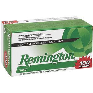 Remington 9mm Luger Ammunition 100 Rounds, UMC JHP, 115 Grains