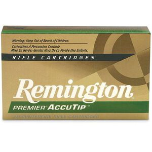 Remington Premier Accutip 7mm Remington Magnum Ammunition 20 Rounds Polymer Tipped 140 Grains PRA7MMRA