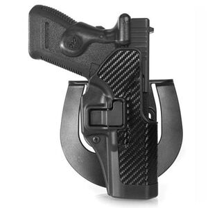 BLACKHAWK! CQC SERPA GLOCK 17/22/31 Belt Holster Right Hand Black Carbon Fiber 410000BK-R