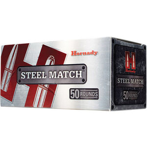 Hornady Steel Match 9mm Luger Ammunition 50 Rounds HAP Bullet 125 Grains 90275