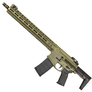 "Noveske Gen 4 N4 PDW 5.56 NATO Semi Auto Rifle 16"" Barrel 30 Rounds M-LOK Handguard Collapsible Stock Bazooka Green"