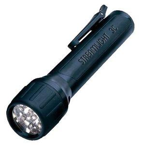 Streamlight 3C ProPolymer LED Flashlight 85 Lumen 3C Batteries Tail Cap Switch Pocket Clip Polymer Black 33302