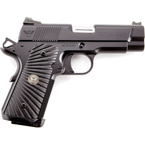 "Wilson Combat Tactical Carry Compact .45 ACP 1911 Semi-Auto Handgun 4"" Barrel 7 Rounds Magwell Custom Features Steel Frame/Slide Black Finish"