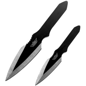 UZI Throwing Knives II, Large and Small Steel Blades