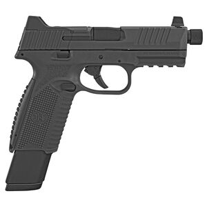"""FNH FN-509 Tactical 9mm Luger Semi Auto Pistol 4.5"""" Threaded Barrel 24/17 Rounds Ambidextrous Controls Night Sights Polymer Frame Matte Black Finish"""