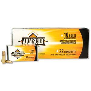 Armscor Precision .22LR Ammunition 36 Grain High Velocity Hollow Point 1247 fps