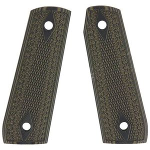 Pachmayr Dominator Ruger 22/45 G10 Grips Fine Checkered Green/Black