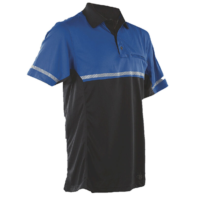 Tru-Spec  24-7 Mens Bike Performance Polo Shirt Large with Reflective Tape Royal Blue