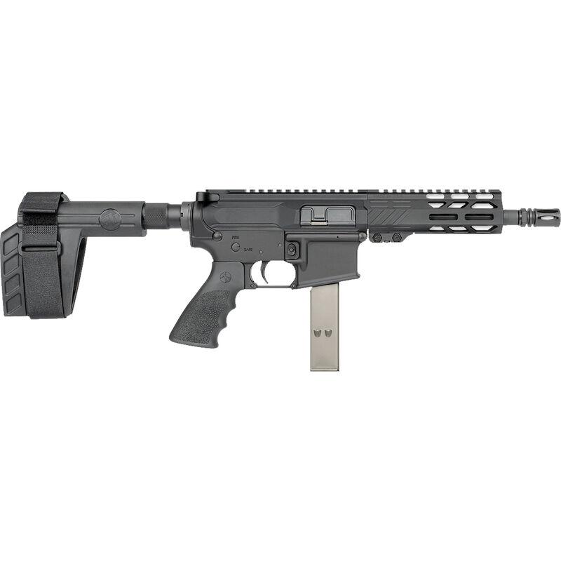 "Rock River LAR-9 9mm Luger AR-15 Semi Auto Pistol 7"" Barrel 32 Rounds Uses Colt Style SMG Mags RRA M-LOK Free Float Handguard SB-Tactical Pistol Brace Black"