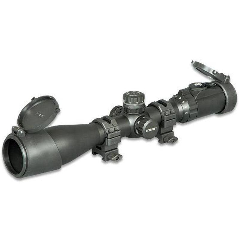 Leapers UTG Accushot 3-12x44 Rifle Scope 36-Color Mil-Dot Reticle Matte  Black SCP3-U312AOIEW