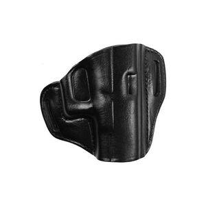 "Bianchi Model 57 Remedy Holster 1.5"" Belt S&W M&P Right Hand Leather Plain Black 25046"