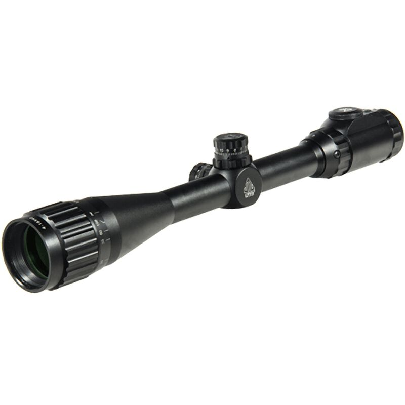 """Leapers UTG 4-16x40 Hunter Scope Adjustable Objective 36 Color Mil-Dot Reticle 1"""" Tube with Rings Matte Finish Black SCP-U4164AOIEW"""