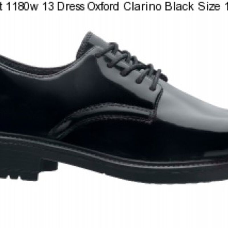 Original S.W.A.T. Dress Oxford Men's Shoe Size 11.5 Wide Clarino Synthetic Upper Black 118001W-115