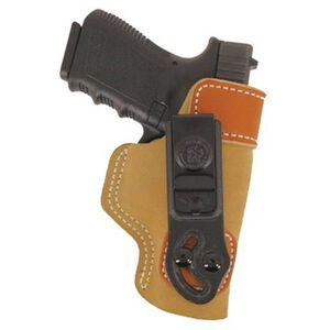 DeSantis Sof-Tuck IWB Holster For GLOCK/Springfield/Walther/Sig 9/40 Right Hand Leather Tan 106NAB6Z0