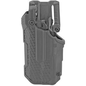 Blackhawk T-Series L3D Duty Holster Fits Sig P320/P250 with TLR1/TLR2 Left Hand Basket Weave Polymer Black