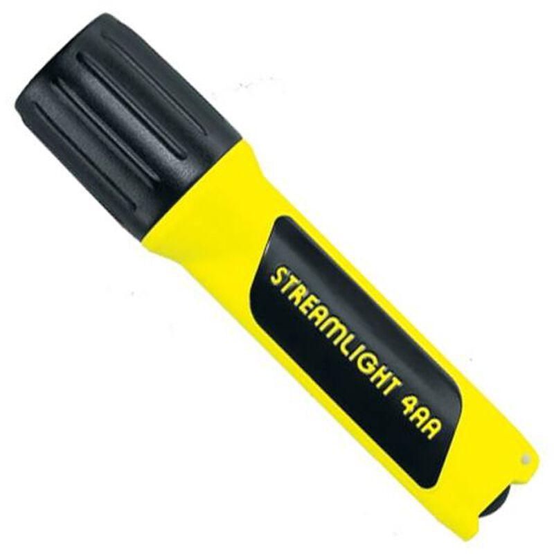 Streamlight Luxeon Flaslight 100 Lumens C4 LED Bulb 4 AA Batteries Rubber Tailcap Polymer Yellow 68244