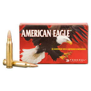 Federal American Eagle .223 Rem Ammunition 20 Rounds 55 Grain FMJBT 3240 fps