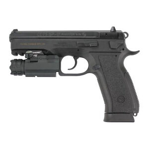 "CZ 75 SP-01 Phantom Semi Auto Pistol 9mm Luger 4.6"" Barrel 18 Rounds Three Dot Sights With NEBO Taclight Interchangeable Backstraps Polymer Frame Matte Black Finish"